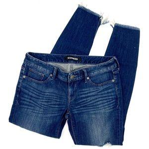Womens Step Hemmed Express Skinny Jeans